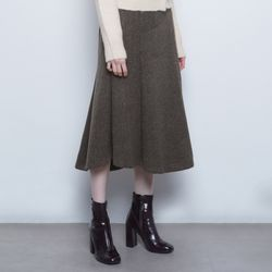 W19 tom herringbone skirt brown