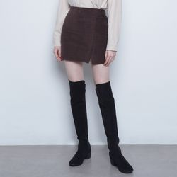 W327 mini coduroy skirt brown