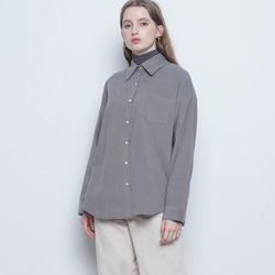 W25 coduroy basic shirts grey