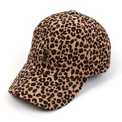 Leopard Corduroy Beige Ballcap GD 호피볼캡
