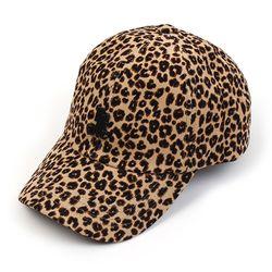 Leopard Corduroy Beige Ballcap BK 호피볼캡