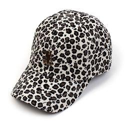 Leopard Corduroy Ivory Ballcap GD 호피볼캡