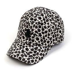 Leopard Corduroy Ivory Ballcap BK 호피볼캡