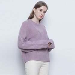 W225 alpaca twister round knit purple