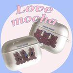 [뮤즈무드] love mocha airpods pro case (에어팟프로케이스)