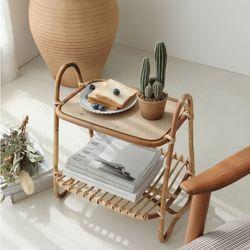 북유럽풍 라탄 거실 협탁 사이드 테이블