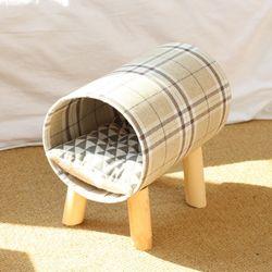 비진 캣츠네스트 체크무늬 고양이둥지