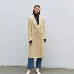 point snap handmade coat - beige