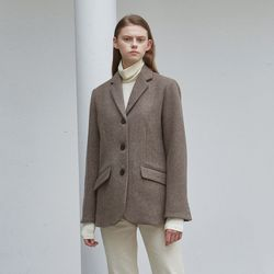 wool classic single jacket - brown