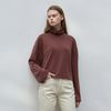 long sleeve turtleneck T-shirt - wine