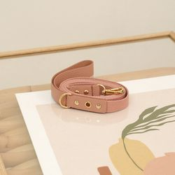 Running Mate Leather&Webbing Lead Rose Pink