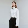 long sleeve turtleneck T-shirt - ivory