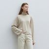 long sleeve turtleneck T-shirt - beige
