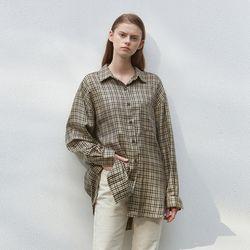 plaid overfit shirts - black check