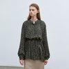 shirring raglan blouse - khaki