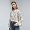 shirring raglan blouse - ivory