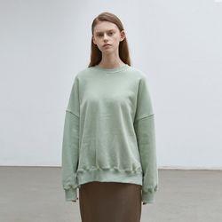 solid loose napping sweatshirt - mint