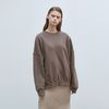 solid loose napping sweatshirt - brown