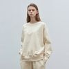 basic wearable sweatshirt - cream ivory