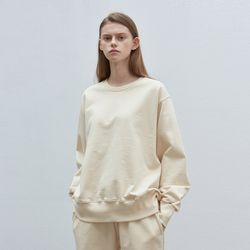basic wearable sweatshirt - cream ivory