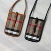 체크 미니 핸드폰 크로스백 (2color)