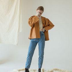 페이크레더 셔츠 자켓 2color