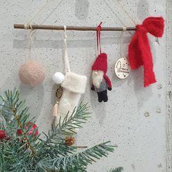 크리스마스 장식 가랜드 산타양모 2컬러