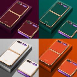 갤럭시Z플립 제트플립 골드라인 단색 컬러 하드케이스