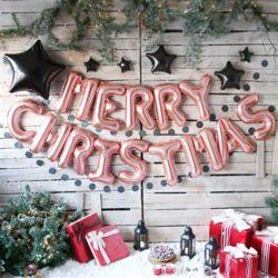 블링블링 크리스마스 풍선세트(로즈골드)