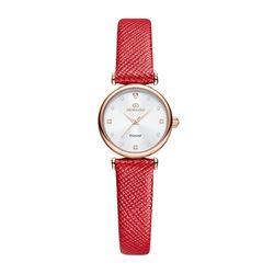 [본사정품] 디유아모르 DAW3202L-RD 가죽 여성시계