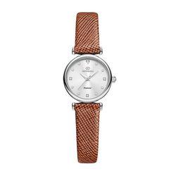 [본사정품] 디유아모르 DAW3202L-L.BR 가죽 여성시계
