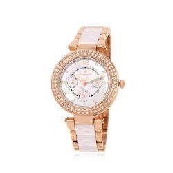 [Timepieces]큐빅글램아이보리 여성메탈시계 OTW120V08TII