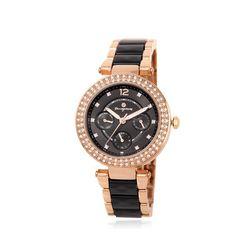 [Timepieces] 큐빅글램 블랙 여성메탈시계 OTW120V08TBB