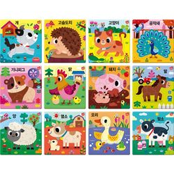 612조각 판퍼즐 - 아기지능방 농장동물 (12종)