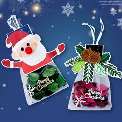 향기나는성탄주머니(4개)크리스마스만들기재료포푸리