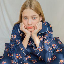 Covy heart-navy(Pajamas)