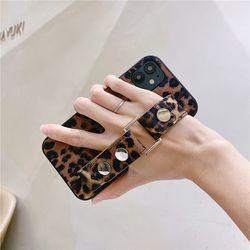 아이폰12 11 pro max xs se2 8 호피 스트랩 폰 케이스