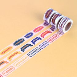 알파벳 요일 마스킹 테이프 20mm