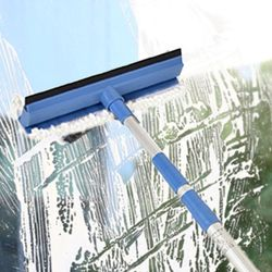 슈퍼 3단 유리창 닦이 창문청소 초극세사 도구