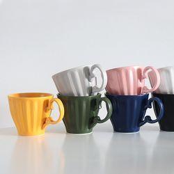 카페 무광 조각 머그컵 (7 Color)