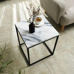 EASY 마블 사이드 테이블 침대 소파 대리석 간이 보조 협탁