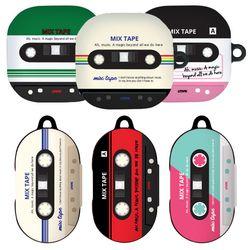 HI 믹스 테이프 갤럭시 버즈 케이스 버즈 라이브 플러스