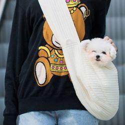 강아지 고양이 산책 이동가방 이동장 슬링백 포대기