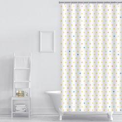 플러스 패턴 샤워커튼(220x180cm)