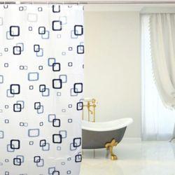 스퀘어 패턴 샤워커튼(150x180cm)