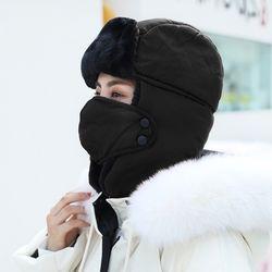 링키 겨울 방한 퍼 마스크 귀달이 모자