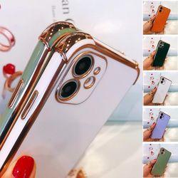 아이폰se2 xr xs max 8 골드 테두리 컬러 젤리 케이스