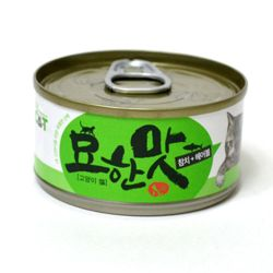 묘한맛 고양이 캔 80g 참치 헤어볼 반려묘 간식