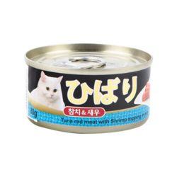 히바리 고양이 참치 새우캔 80g