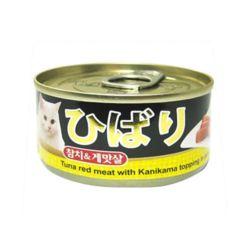 히바리 고양이 참치 게맛살캔 80g
